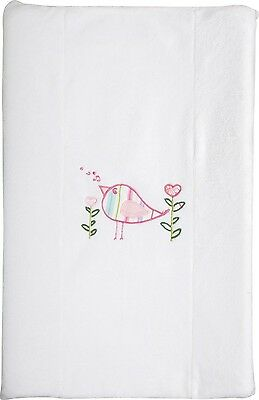 New Fitted Velour Baby Change pad Cover Pink Birdhouse