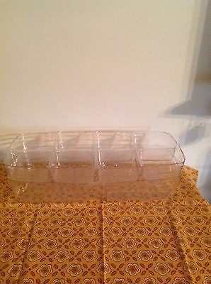 Longaberger Vanity Basket 2 Piece Stacked Divided Protector
