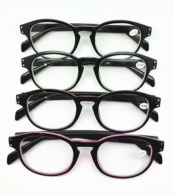 Classic Round Frame Nearsighted Minus Distance Myopia Glasses -0.25 0.5 0.75~4.0