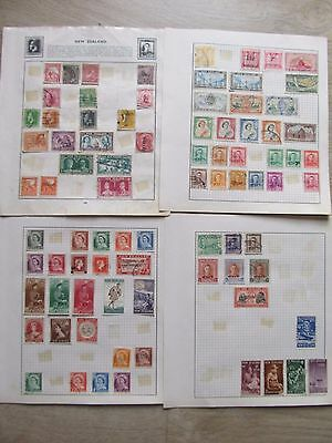Collection of 360 New Zealand Stamps, hinged on 23 pages, good starter lot
