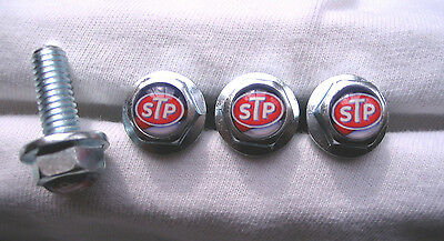 STP Oil License Plates Screws, STP oil Logo Plate Screws, STP Ricard Petty