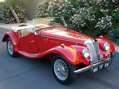 1954 MG T-Series MG TF Roadster Stunning British Sports Car  1954 MG TF Matching Numbers BEAUTIFUL FRAME OFF RESTORATION MUST SEE!!!