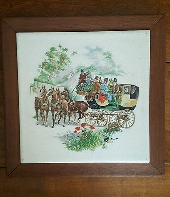 Old Coach Horse carriage Hot Dish Trivet Creations by Deede- Excellent!