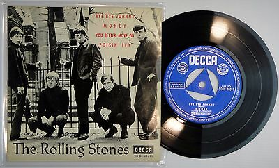 ROLLING STONES ‎– BYE BYE JOHNNY EP Spain MINT * 1963 Orig. 1sT DECCA FIRST EDIT