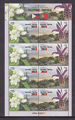 Stamps 2016 MNH Philippine-Portugal Flowers sheetlet