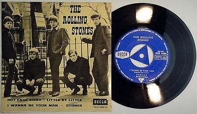 ROLLING STONES – NO FADE AWAY EP Spain MINT * 1964 Orig 1sT DECCA HAS TRICENTER