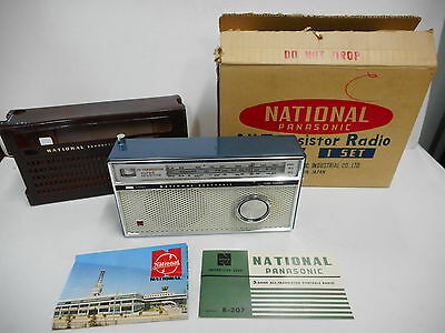 Vintage National Panasonic All Transistor Radio R 307 Boxed As New Condition