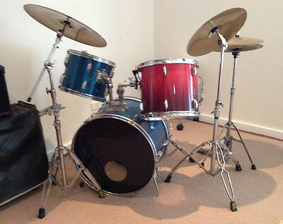 Drum kit:  Mixed ProMax, Pearl and Ludwig