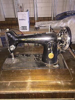 Retro Antique Singer Sewing Machine With Cabinet Needs Love