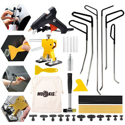 63Pcs PDR Paintless Repair Tool-Dent Puller Lifter Hammer-Removal Line Board Kit