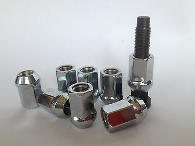 """20 Pcs Racing Open End Race Proven Chrome Wheel Nuts 1/2"""" Unf.suit Ford,"""