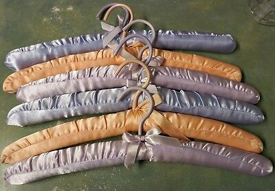 Vintage Satin Padded Clothes Hangers Various Colors