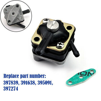 New 397839 Fuel Pump Replace for Johnson/Evinrude 6hp 8hp 9.9hp 15hp Pre 1992