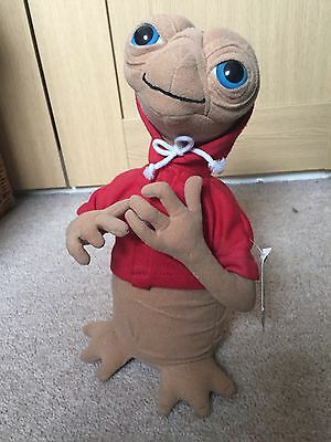 E.T Alien Soft Toy in RED HOODY Extra Terrestrial Universal Studios 25cm + Tag