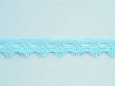 CRAFT-KNITTING EYELET-15mm Sky Blue 1 Sided Eyelet(mtr variations available)