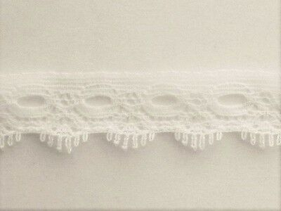 CRAFT-KNITTING EYELET-16mm Ivory/Cream 1 Sided Eyelet(mtr variations available)