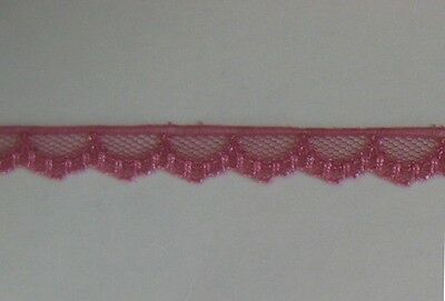 CRAFT-SEWING-LACE 10mtrs x 9mm Scallop Lace (Asst Colour Variations Listed)