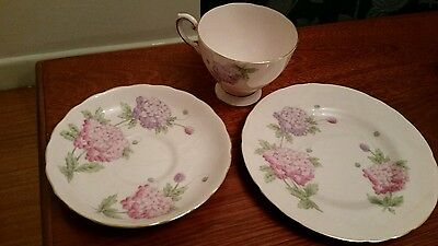 Deceased estate collector trio england duchess bone china cup saucer plate gc