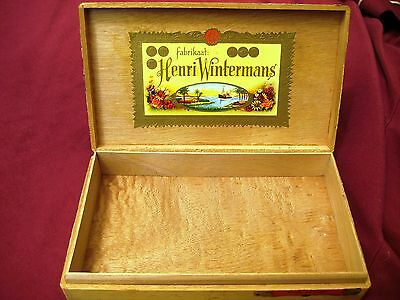 "ONE Wooden ""HENRI WINTERMAN"" CIGAR BOX  suit Box Guitar or Collection"