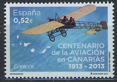 SPAIN 2013 MNH Aviation in Canarias cent.