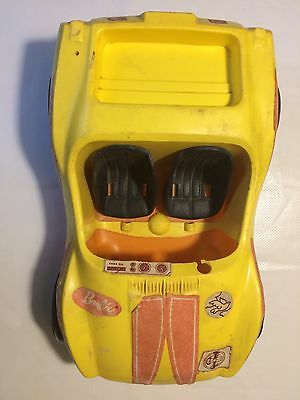 Vintage 1972 Barbie Car Yellow Beach Dune Biggie Toy Mattel Made In The USA