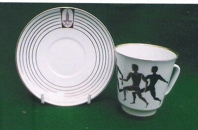1980 Moscow  Olympic Games.  Cup & Saucer  In Mint Condition