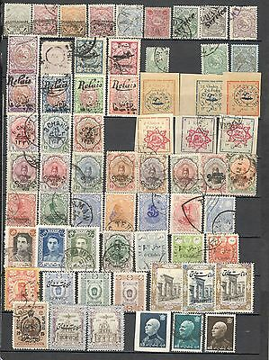 Persia 2 pages classic  stamps lot collection Great Value