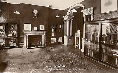 W & K RP Postcard: Library Trinity College of Music, Mandeville Place, Ldn No 2