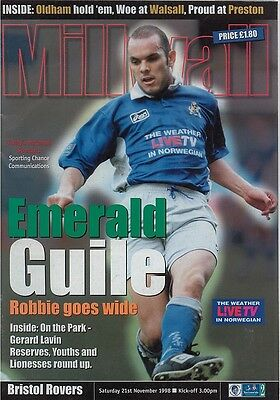 MILLWALL v BRISTOL ROVERS NATIONWIDE DIV TWO 1998