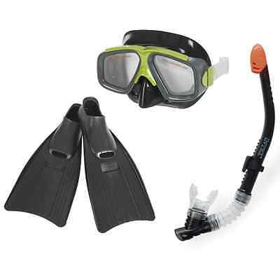 Intex 55959Surf Rider Snorkel, Mask and Flippers Diving Kit Adult Size