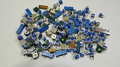 160  Potentiometer Trimmers , Bourns , Spectrol , Helitrim , Beckman And More