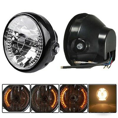 "Motorcycle 7""Headlight LED Turn Signal Indicator Amber Light For Honda Universal"