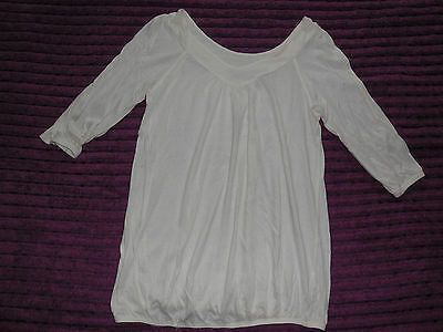 New look maternity ivory/cream top size 12