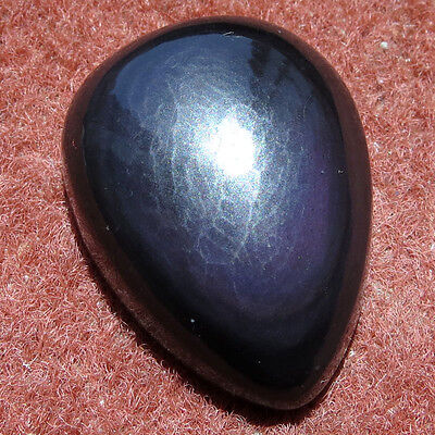 61.05CT Pear Natural Cabochon Obsidian Eye Loose Gemstone Aura.gems