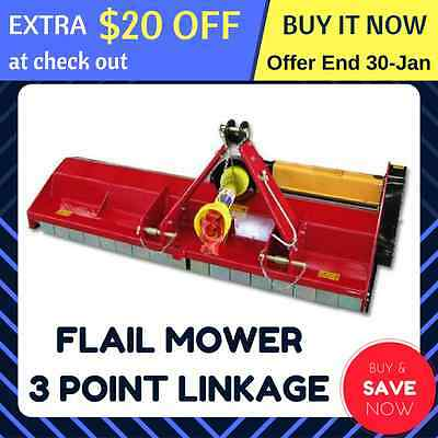 FLAIL MOWER MULCHER TRACTOR PTO 3 POINT LINKAGE 0.9 - 1m CUT (Mulching SLASHER)