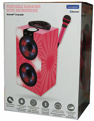 Kids Lexibook Karaoke Machine with Microphone And Light Effects Pink