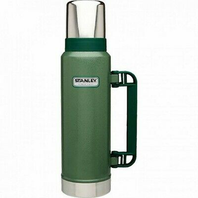 Stanley Classic 1.3L Ultra Vacuum Insulated Thermos Flask Green Hot Cold 28 hrs