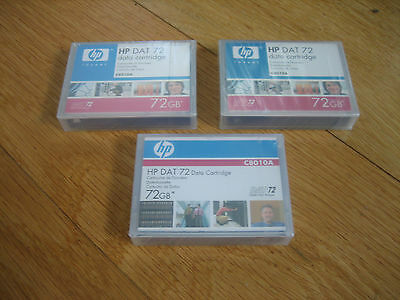 HP DAT72 TAPE x 3 sealed new