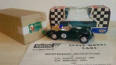 """Vintage Scalextric C74 Austin Healey Boxed & """"mailng Box"""" Rare"""