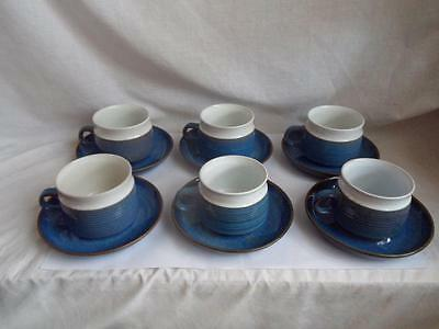 Denby Chatsworth Set of 6 Tea Cups and Saucers