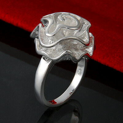 Womens Jewelry 925 Solid Silver Flower Heads Rings Gift UK Size Q