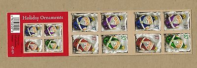 USPS Holiday Ornaments Twenty 37 Cent 2 Sided Booklet