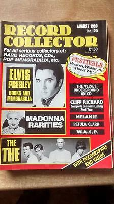 Record Collector 120 Magazine August 1989 Elvis Madonna The Cliff