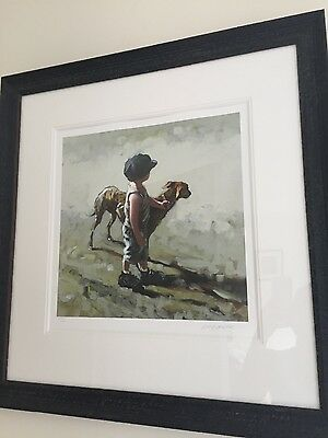 Keith Proctor Paws for Thought limited edition giclee print professionally frame