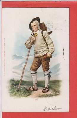 Switzerland Native Man Costume Alpine Climber