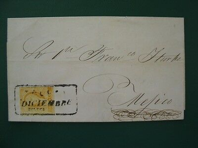 Correos Mexico - Un Real - One Stamp On Letter +++ Take A Look +++