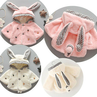Newborn Baby Girl winter Outerwear Coat Jacket Kids Clothes Hooded Cape Snowsuit