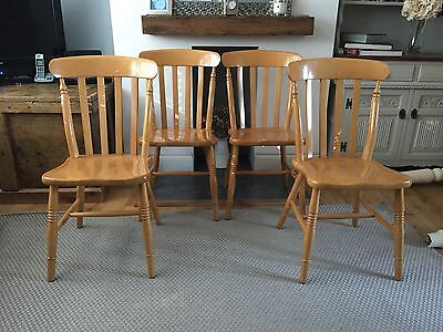 4 Farmhouse Style Dining Chairs