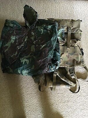 Army backpack and poncho - army cadets - military