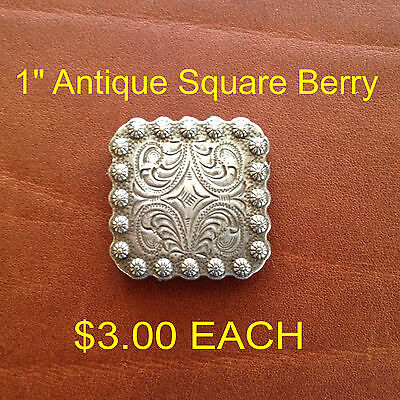 Antique Square Berry Concho 1""